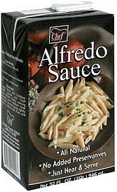 alfredo sauce Chef Creations Nutrition info