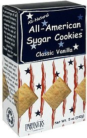 all-american sugar cookies classic vanilla Partners Nutrition info