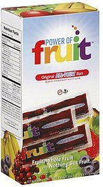 all-fruit bars original The Power of Fruit Nutrition info