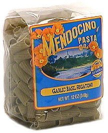 all-natural flavored pasta garlic basil rigatoni Mendocino Pasta Co. Nutrition info