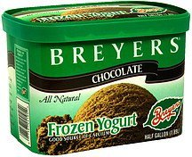 all natural frozen yogurt chocolate Breyers Nutrition info