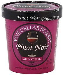 all natural ice pinot noir, new york 2005 Wine Cellar Sorbet Nutrition info
