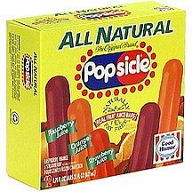 all natural real fruit juice bars Popsicle Nutrition info