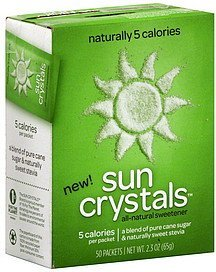 all-natural sweetener Sun Crystals Nutrition info