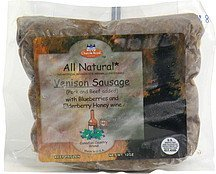 all natural venison sausage with blueberries and elderberry honey wine Chateau Royal Nutrition info