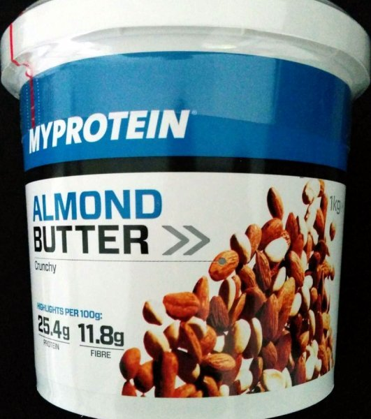 almond butter Myprotein Nutrition info