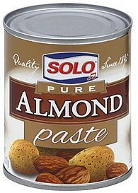 almond paste pure Solo Nutrition info