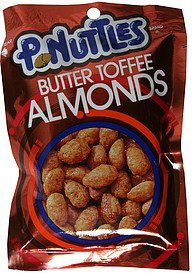 almonds butter toffee P. Nuttles Nutrition info