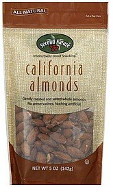 almonds california Second Nature Nutrition info