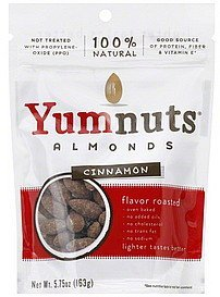 almonds cinnamon Yumnuts Nutrition info