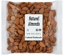 almonds natural Valued Naturals Nutrition info
