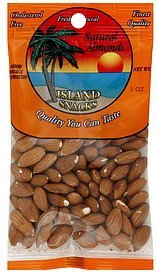 almonds natural Island Snacks Nutrition info