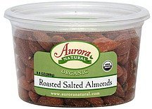 almonds roasted, salted Aurora Natural Nutrition info