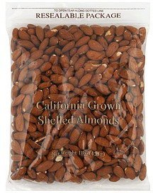 almonds shelled Suntree Nutrition info