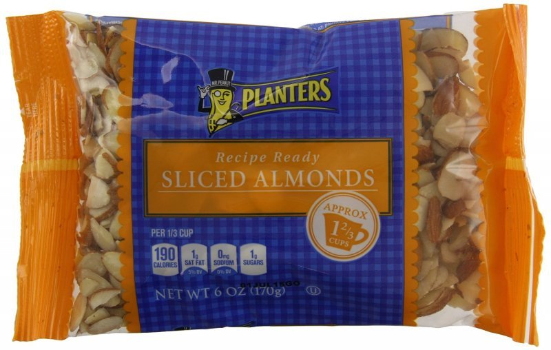 almonds sliced Planters Nutrition info