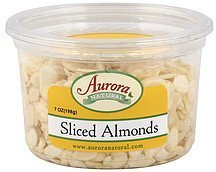 almonds sliced Aurora Natural Nutrition info