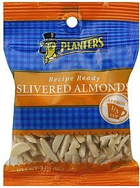 almonds slivered Planters Nutrition info