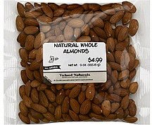 almonds whole, natural Valued Naturals Nutrition info