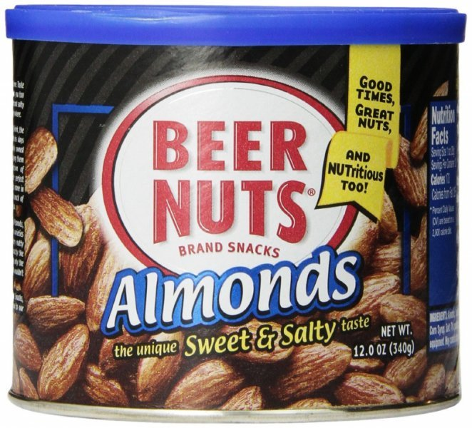 almonds Beer Nuts Nutrition info
