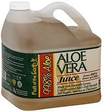 aloe vera juice Fruit of the Earth Nutrition info