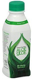 aloe water natural, pulp free Aloe Gloe Nutrition info