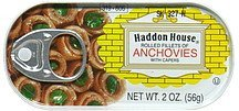 anchovies, rolled fillets, with capers Haddon House Nutrition info