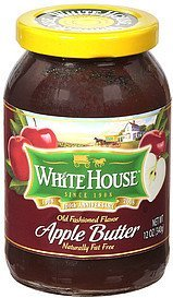 apple butter old fashioned flavor White House Nutrition info