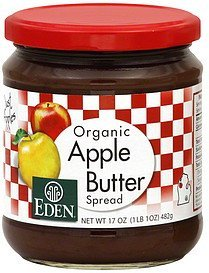 apple butter spread organic Eden Nutrition info