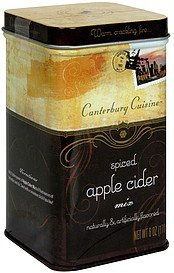 apple cider mix spiced Canterbury Cuisine Nutrition info