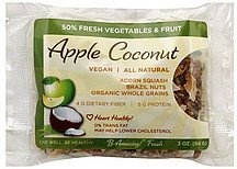 apple coconut bar B-Amazing! Foods Nutrition info