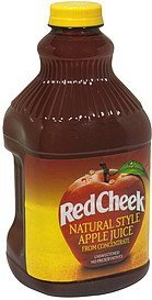 apple juice natural style, unsweetend Red Cheek Nutrition info