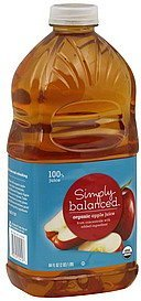 apple juice organic Simply Balanced Nutrition info