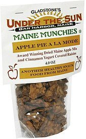 apple pie a la mode dried maine apple mix and cinnamon yogurt covered raisins Maine Munchies Nutrition info