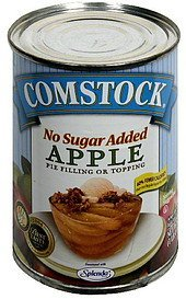 apple pie filling or topping no sugar added Comstock Nutrition info