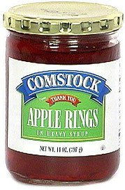 apple rings in heavy syrup Comstock Nutrition info