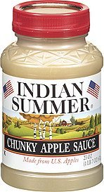 apple sauce chunky Indian Summer Nutrition info