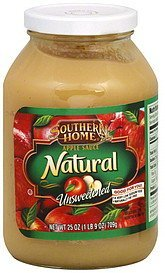 apple sauce natural, unsweetened Southern Home Nutrition info