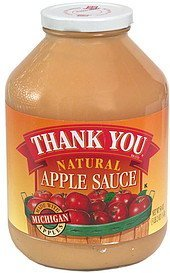 apple sauce, natural Thank You Nutrition info