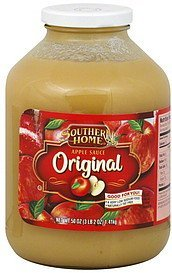 apple sauce original Southern Home Nutrition info