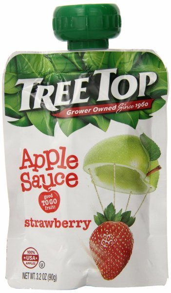 apple sauce strawberry Tree Top Nutrition info