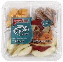 apple snackers sweet apples, pretzels, and cheese Crunch Pak Nutrition info