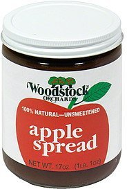 apple spread Woodstock Orchards Nutrition info