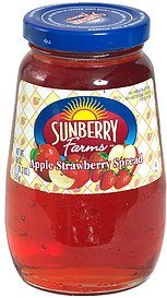 apple-strawberry spread Sunberry Farms Nutrition info