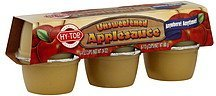 applesauce unsweetened Hy Tops Nutrition info