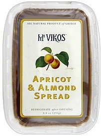 apricot & almond spread Mt Vikos Nutrition info