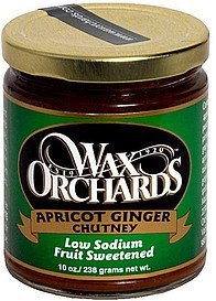 apricot ginger chutney Wax Orchards Nutrition info