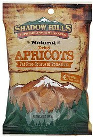 apricots dried Shadow Hills Nutrition info