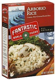 arborio rice Fantastic World Food Nutrition info