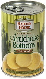 artichoke bottoms Haddon House Nutrition info