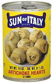 artichoke hearts 5/7 count Sun of Italy Nutrition info
